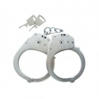 Металлические наручники БР  -1КФ конвойные с фиксатором